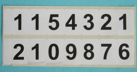 Číslovky – samolepky-obrazek